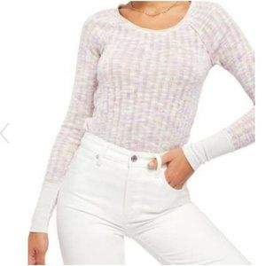 Free People Spaced Out Long Sleeve Thin Sweater